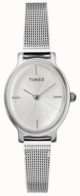 Timex Orologio da donna in maglia ovale argento milano TW2R94200D7PF