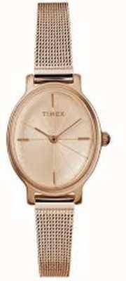 Timex Orologio da donna ovano milano in maglia di oro rosa TW2R94300D7PF