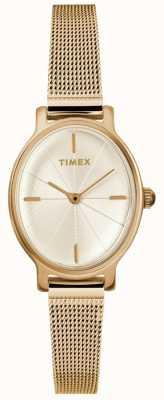 Timex Orologio da donna in maglia ovale oro milano TW2R94400D7PF
