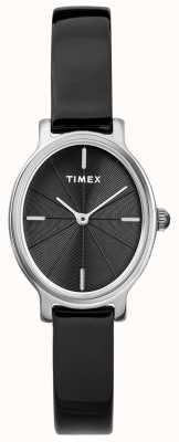 Timex Orologio da donna in argento milano con quadrante nero e quadrante argentato TW2R94500D7PF