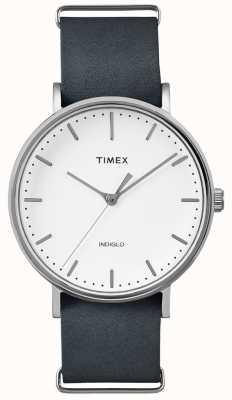 Timex Orologio a mano 3 cinturino nero Fairfield TWF3C8140UK