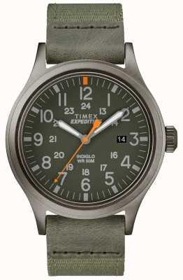 Timex Cinturino in tessuto verde con orologio da esplorazione per spedizione TW4B14000D7PF