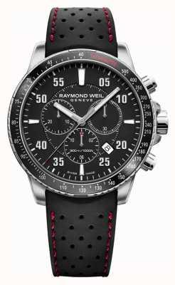 Raymond Weil Cinturino in caucciù cronografo nero tango da uomo 8570-SR1-05207