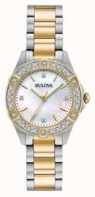 Bulova Orologio da donna con diamanti bicolore 98R236
