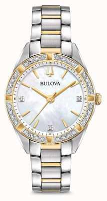 Bulova Orologio da donna con diamanti bicolore 98R263