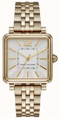 Marc Jacobs Quadrante quadrante con cinturino in oro e argento MJ3462