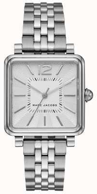 Marc Jacobs Quadrante quadrante con cinturino in argento tono argento MJ3461