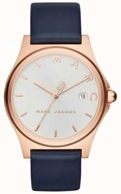 Marc Jacobs Womens henry cinturino in pelle blu orologio MJ1609