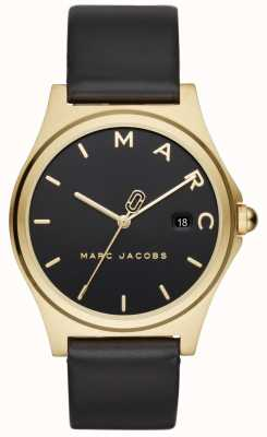 Marc Jacobs Orologio da donna henry cinturino in pelle nera MJ1608