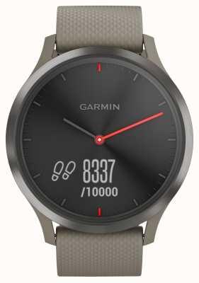 Garmin Quadrante nero con cinturino in pietra arenaria tracker Vivomove hr 010-01850-03