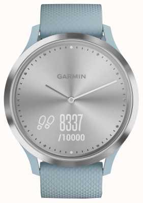 Garmin Quadrante argentato in gomma blu con tracker attività Vivomove hr 010-01850-08