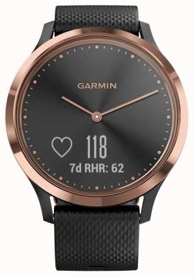 Garmin Vivomove hr tracker nero con cassa in oro rosa 010-01850-06