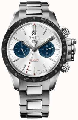 Ball Watch Company Quadrante argento 42 mm cronografo racer idrocarburo ingegnere CM2198C-S1CJ-SL