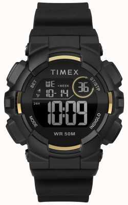 Timex Cinturino da donna nero 44mm con cassa nera TW5M23600