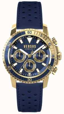 Versus Versace Quadrante blu con cinturino in pelle blu abercrato S30020017