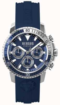 Versus Versace Quadrante blu con cinturino in silicone blu aberdeen per uomo S30040017