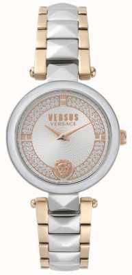 Versus Versace Orologio da donna in cristallo bicolore da giardino SPCD250017