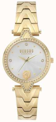 Versus Versace Bracciale pvd in oro con quadrante oro v v versus pietra SPCI350017