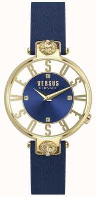Versus Versace | donne | kristenhof | quadrante blu | cinturino in pelle blu | VSP490218