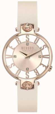 Versus Versace Cinturino in pelle rosa kristenhof con quadrante rosa dorato SP49030018