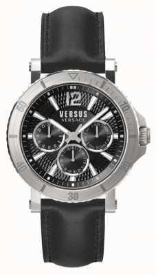 Versus Versace Cinturino in pelle nera uomo steenberg quadrante nero SP52020018