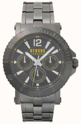 Versus Versace Mens steenberg quadrante grigio cinturino in acciaio inossidabile grigio SP52050018