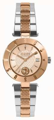 Versus Versace Bracciale a due toni con quadrante in oro rosa con logo delle donne SP77260018