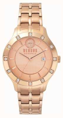 Versus Versace Bracciale pvd da donna in oro rosa con cinturino brackenfell in oro rosa SP46040018