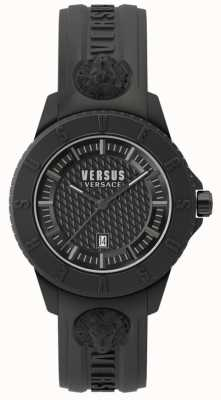 Versus Versace Cinturino in silicone nero di Tokyo r nero SPOY230018