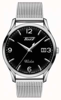 Tissot Quadrante nero in acciaio pregiato visodate heritage al quarzo T1184101105700