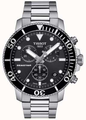 Tissot Cronografo al quarzo uomo Seastar 1000 nero / acciaio inossidabile T1204171105100
