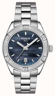 Tissot Womens pr 100 sport chic 36mm acciaio inossidabile blu T1019101112100
