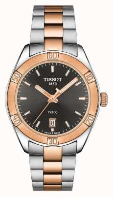 Tissot Womens pr 100 sport chic 36mm quadrante nero bicolore T1019102206100