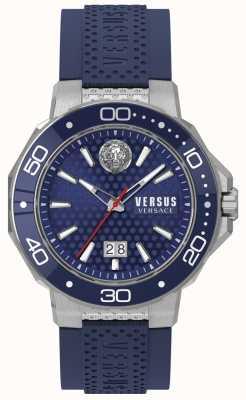 Versus Versace Quadrante blu quadrante con cinturino in acciaio inossidabile VSP05020018