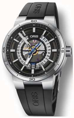 Oris Quadrante scheletrato con cinturino in gomma siliconica per motori Williams tt1 01 733 7752 4124-07 4 24 06FC