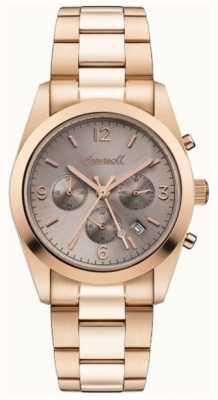 Ingersoll Womens il cronografo universale in oro rosa placcato in pvd I05402