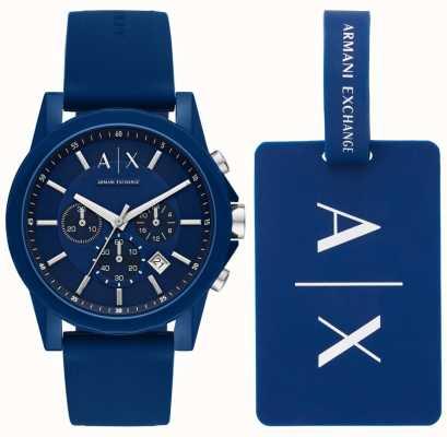 Armani Exchange Set regalo per orologio sportivo da uomo AX7107