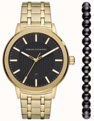 Armani Exchange Set regalo orologio da uomo urbano AX7108