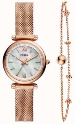 Fossil ladies carlie orologio regalo set ES4443SET