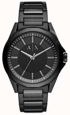 Armani Exchange Mens acciaio inossidabile nero AX2620