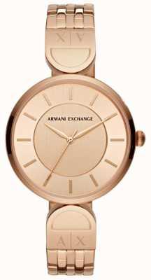 Armani Exchange Orologio da donna in oro rosa AX5328