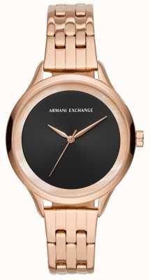 Armani Exchange Orologio da donna in oro rosa AX5606