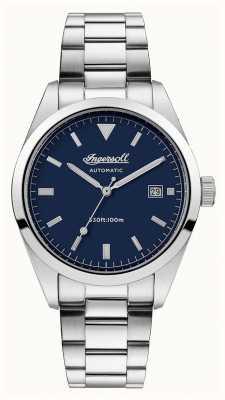 Ingersoll Mens il reliance quadrante blu cinturino in acciaio inossidabile I05502