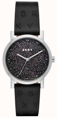 DKNY Dkny ladies soho guarda cinturino in pelle nera NY2775