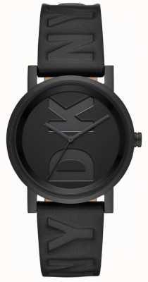 DKNY Ladies soho guarda il cinturino in pelle nera NY2783