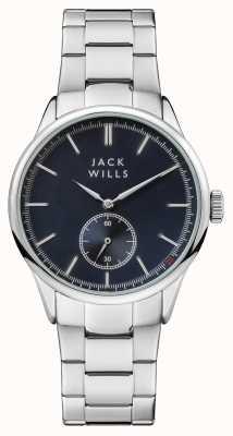 Jack Wills Bracciale da uomo in acciaio inossidabile quadrante blu forster JW004BLSL