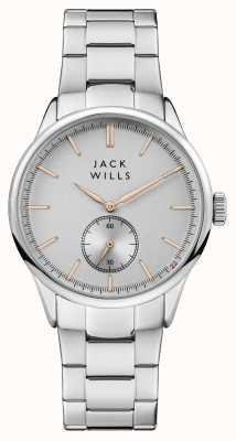 Jack Wills Bracciale da uomo in acciaio inossidabile con quadrante argentato JW004SLSL