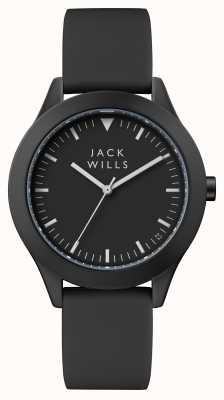 Jack Wills Cinturino in silicone nero con quadrante nero da donna JW008BKBK