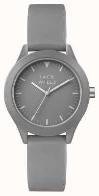 Jack Wills Cinturino in silicone grigio da donna con quadrante grigio JW008GYGY