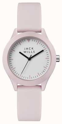 Jack Wills Cinturino in silicone rosa con quadrante bianco da donna JW008PKPK